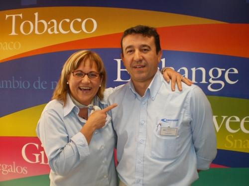 Diego y Gloria responsables de tienda