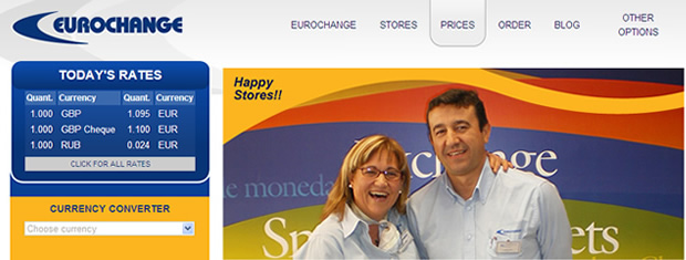 eurochange.es website